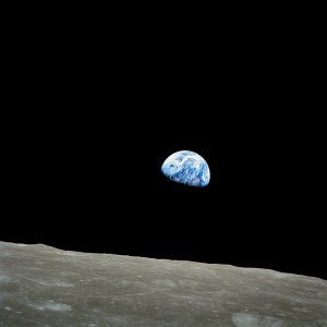 """NASA-Apollo8-Dec24-Earthrise"" by NASA / Bill Anders - http://www.hq.nasa.gov/office/pao/History/alsj/a410/AS8-14-2383HR.jpg. Licensed under Public domain via Wikimedia Commons - http://commons.wikimedia.org/wiki/File:NASA-Apollo8-Dec24-Earthrise.jpg#mediaviewer/File:NASA-Apollo8-Dec24-Earthrise.jpg"