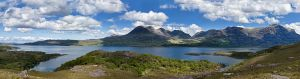 Upper Loch Torridon, west coast Scotland. Panorama, from 7 pictures. Source: Wikimedia commons
